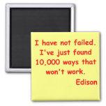 Thomas Edison quote 2 Inch Square Magnet