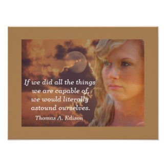 Thomas Edison quote - art print