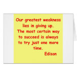 Thomas Edison quote Card
