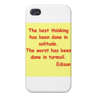 Thomas Edison quote Case For iPhone 4