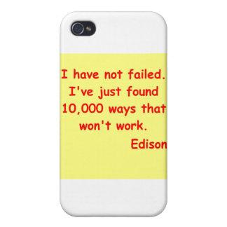 Thomas Edison quote Cases For iPhone 4