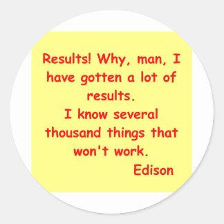 Thomas Edison quote Classic Round Sticker