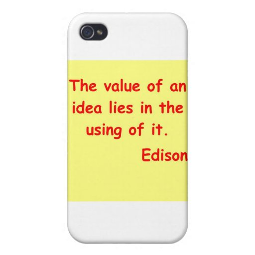 Thomas Edison quote Covers For iPhone 4