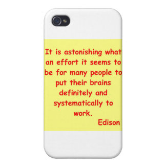 Thomas Edison quote iPhone 4/4S Case
