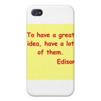 Thomas Edison quote iPhone 4/4S Cases