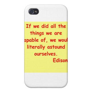 Thomas Edison quote iPhone 4 Covers