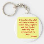 Thomas Edison quote Key Chains