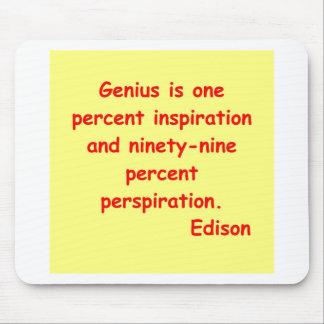 Thomas Edison quote Mouse Pad