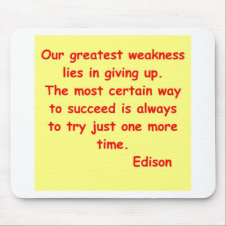 Thomas Edison quote Mouse Pads
