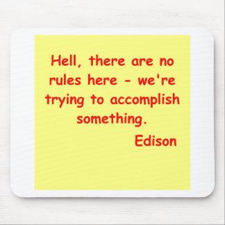 Thomas Edison quote Mousepad