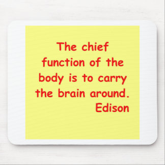 Thomas Edison quote Mousepads