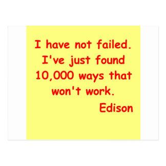 Thomas Edison quote Postcard