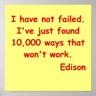 Thomas Edison quote Poster