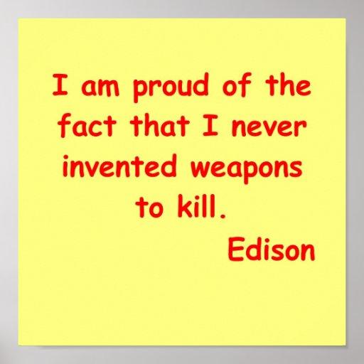 Thomas Edison quote Posters