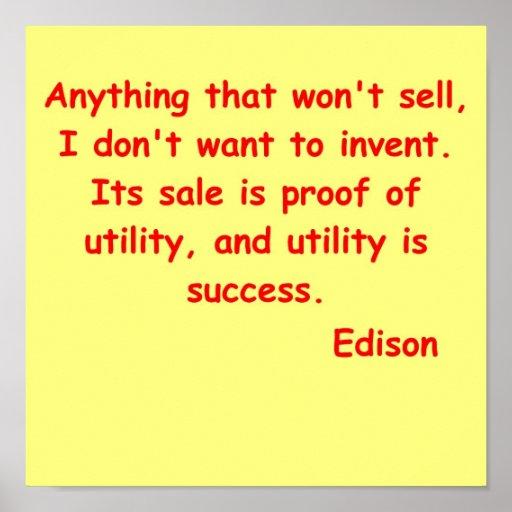 Thomas Edison Invention Text List