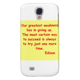 Thomas Edison quote Samsung Galaxy S4 Cases