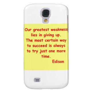 Thomas Edison quote Samsung S4 Case