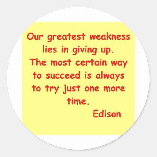 Thomas Edison quote Sticker