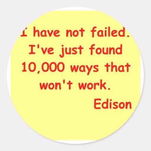 Thomas Edison quote Stickers