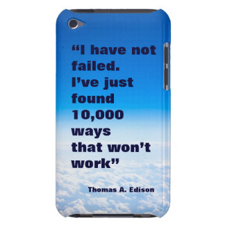 Thomas Edison quote success sky background Barely There iPod Cover