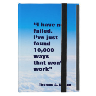 Thomas Edison quote success sky background Cover For iPad Mini