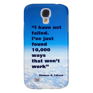 Thomas Edison quote success sky background Galaxy S4 Cover