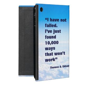 Thomas Edison quote success sky background iPad Mini Case
