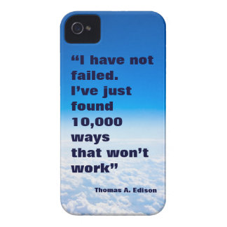 Thomas Edison quote success sky background iPhone 4 Cover