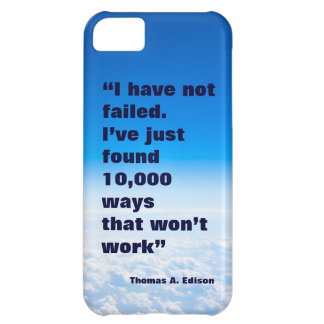 Thomas Edison quote success sky background iPhone 5C Cover