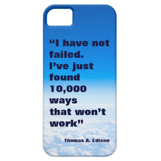 Thomas Edison quote success sky background iPhone SE/5/5s Case