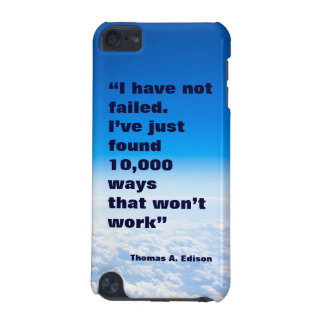 Thomas Edison quote success sky background iPod Touch (5th Generation) Case