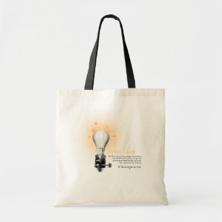 Thomas Edison Quote Tote Bag