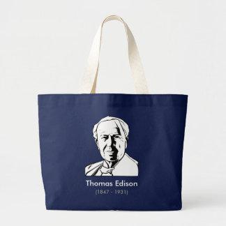 Thomas Edison - real genius Large Tote Bag