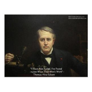 Thomas Edison regalos de la cita de la sabiduría d Tarjeta Postal