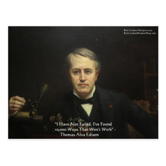 Thomas Edison regalos de la cita de la sabiduría Postal