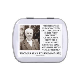 Thomas Edison Restlessness Discontent Progress Candy Tins