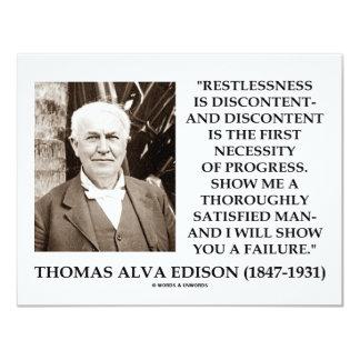 Thomas Edison Restlessness Discontent Progress Card