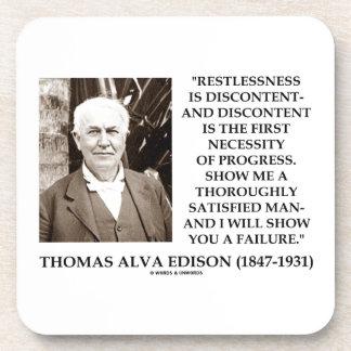 Thomas Edison Restlessness Discontent Progress Coaster