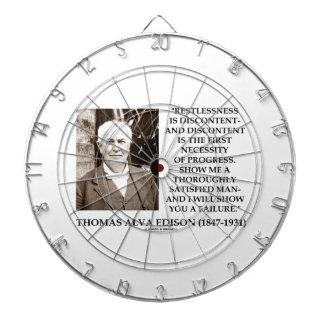 Thomas Edison Restlessness Discontent Progress Dart Board