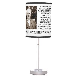 Thomas Edison Restlessness Discontent Progress Desk Lamp