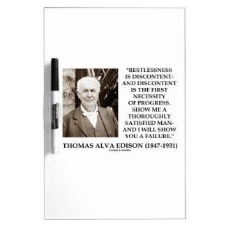 Thomas Edison Restlessness Discontent Progress Dry-Erase Board