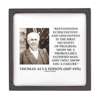 Thomas Edison Restlessness Discontent Progress Jewelry Box