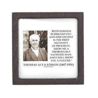 Thomas Edison Restlessness Discontent Progress Keepsake Box