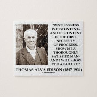 Thomas Edison Restlessness Discontent Progress Puzzle