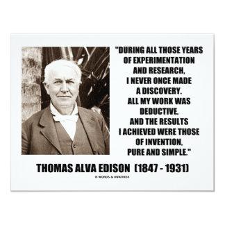 Thomas Edison resulta cita simple pura de la Comunicado Personal