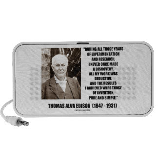 Thomas Edison Results Invention Pure Simple Quote Portable Speaker