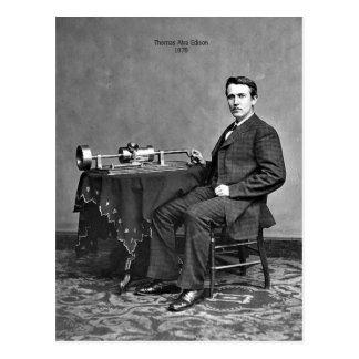 Thomas Edison Tarjeta Postal