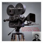 """Thomas Edison """"Try To Succeed"""" Quote Poster Print"""