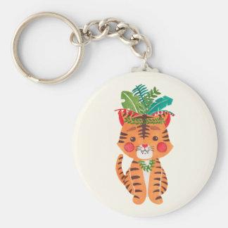 Thomas el pequeño tigre llavero redondo tipo pin