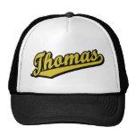 Thomas en oro gorras